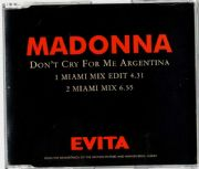 DON'T CRY FOR ME ARGENTINA - UK PROMO CD (W0384CDDJ2)